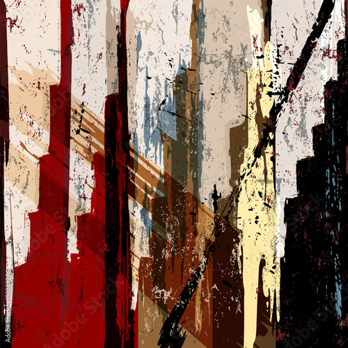 Fotobehang Abstract met Penseelstreken abstract background pattern, with strokes and splashes