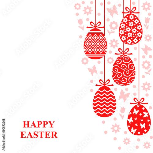 Easter decorative eggs card