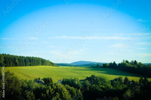 Foto Murales Landschaft des Erzgebirge