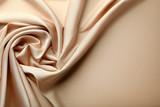 Fototapety Background of beige satin fabric