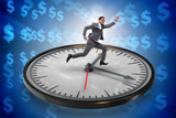 Businessman in time management concept - 190900273