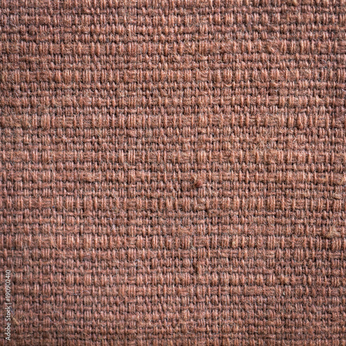 Close up brown fabric texture and background