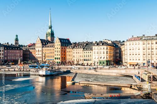 Fotobehang Stockholm Stockholm in the Kingdom of Sweden, Scandinavia.