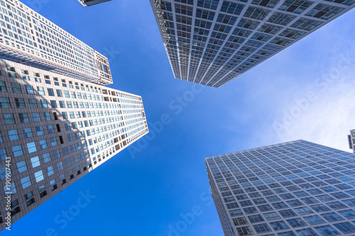 Fotobehang Peking panoramic cityscape with modern office building