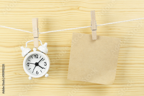 clock and note