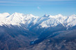 panorama of snow ridge on cloudy background aerial view - 190915093