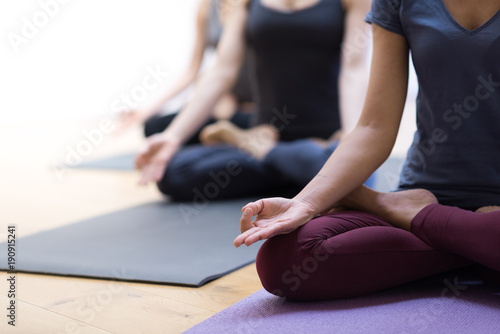 Fototapeta Yoga and mindfulness meditation