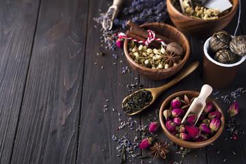 Flower and herbal tea © lyulkamazurkev