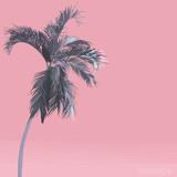 Vector flat style pastel pink palm tree. nostalgic\ emotion \ aesthetic feeling - 190918444
