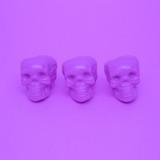 Purple Mood. Skull. Purple colours trend. Fashion minimal art - 190926696