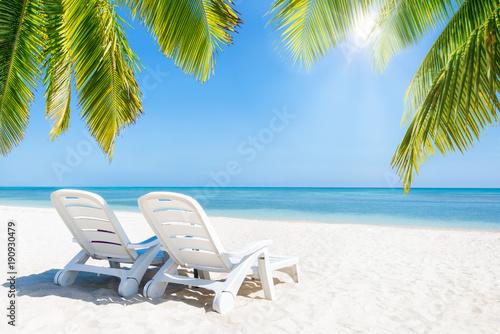 Foto Murales Entspannen im Urlaub am Strand