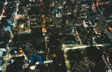 Aerial view of Downtown Los Angeles at night - 190931466