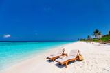 Beautiful tropical beach at Maldives - 190937295