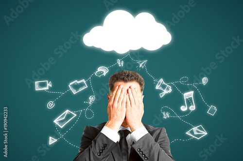 Cloud computing and network concept