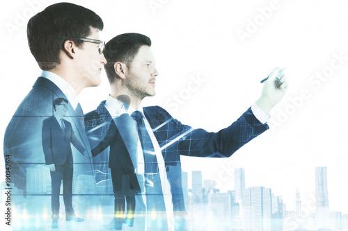 Teamwork and finance concept