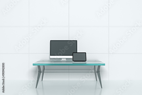 Modern interior with workplace