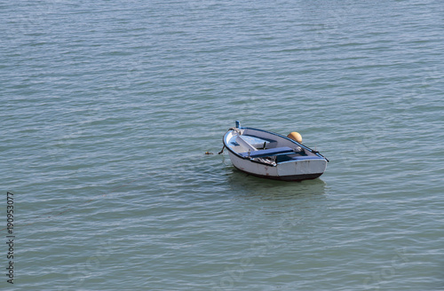 Keuken foto achterwand Schip small boat in the sea