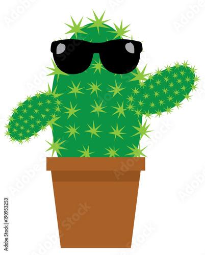 wektor-kreskowka-kaktus