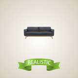 Settee realistic element. Vector illustration of settee realistic isolated on clean background for your web mobile app logo design. - 190955651