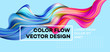 Modern colorful flow poster. Wave Liquid shape in blue color background. Art design for your design project. Vector illustration - 190964237