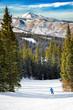 skiing in Colorado mountains