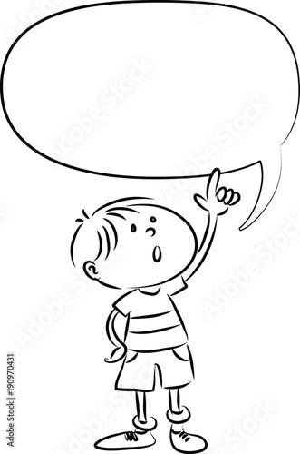 cartoon kids with blank border - 190970431