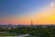 French landscape, eiffel tower, sunsets and romantic places