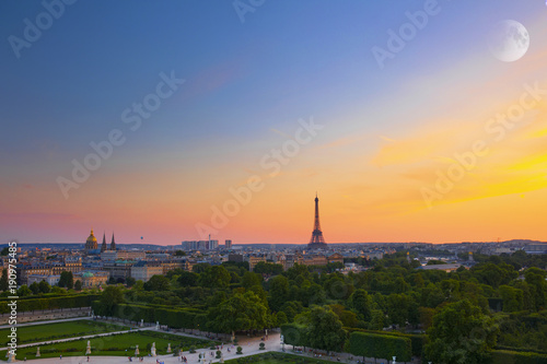 Aluminium Nice French landscape, eiffel tower, sunsets and romantic places