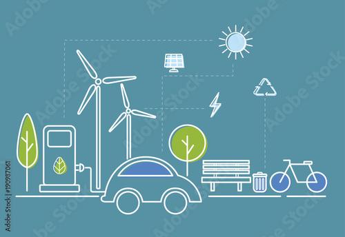 Illustration of ecology system