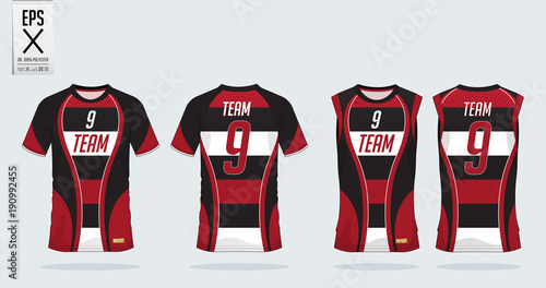 t shirt sport template design for soccer jersey football kit and