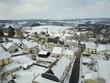 Gaume neige froid hiver village environnement Wallonie Belgique - 190995638