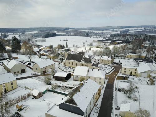 Gaume neige froid hiver village environnement Wallonie Belgique