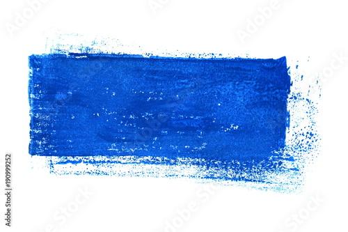 Na białym tle niebieski pasek niechlujny kolor