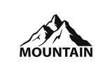 mountain logo silhouette in black color