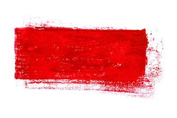 Isolierter roter unordentlicher Farbstreifen