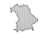 Karte von Bayern auf Wellblech - 191005239