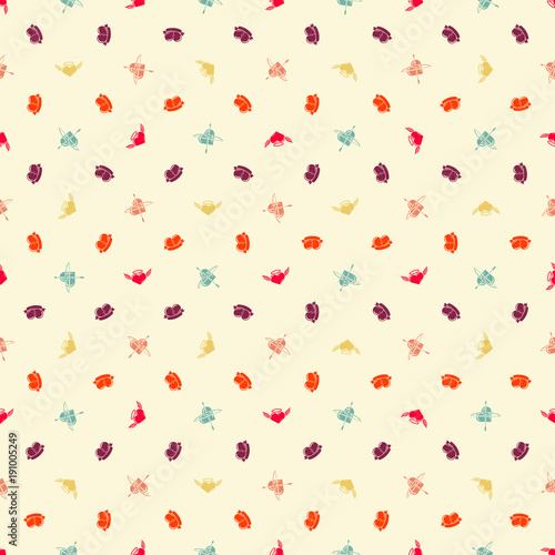 Seamless pattern on Valentines Day. Vector texture for greetings postcard, invitation, banner