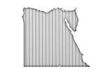Karte von Ägypten auf Wellblech - 191005401