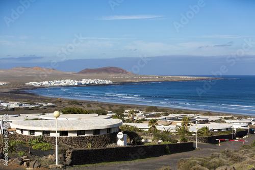 Fotobehang Canarische Eilanden Playa Famara, Lanzarote, Canary Islands