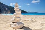 Zen stones on a beach in Greece
