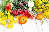 Gartenarbeit im Frühling: Einpflanzen von Frühlingsblumen :) - 191016642