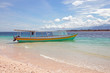 Traditional boats on the beach at Gili Meno in Indonesia