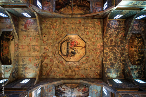 obraz lub plakat Picturesque interior of the Church of Peace in Swidnica, Poland