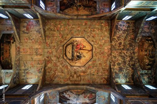 obraz PCV Picturesque interior of the Church of Peace in Swidnica, Poland