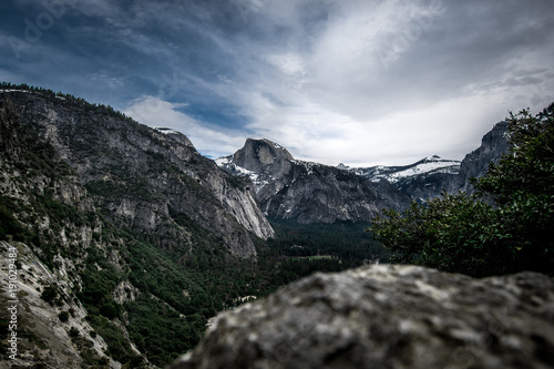 Foto op Canvas Zwart Yosemite 2