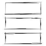 blank grunge rectangle frames - 191032893