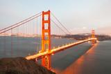 The Golden Gate Bridge in San Francisco from above, California