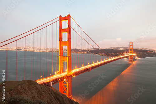 Golden Gate Bridge w San Francisco z góry w Kalifornii