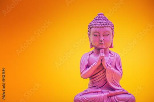 Staande foto Boeddha pink buddha statue