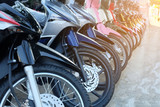 many motorcycle at the Showroom for sale